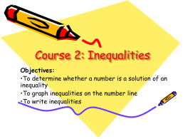 Inequalities 7-3