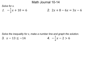 Unit 3 Day 6: Solving Multi