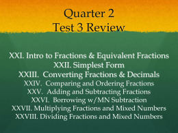 Quarter 3 Test 2 Review