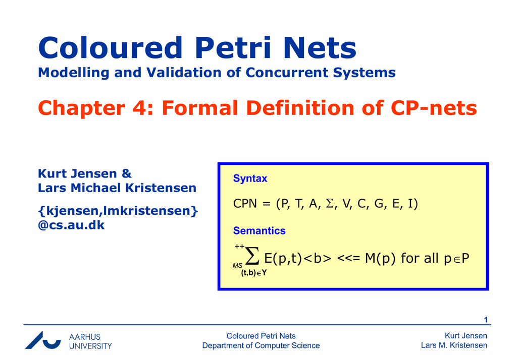 CPN 4 - Department of Computer Science