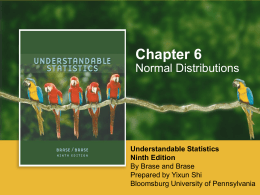 Chapter 6: Normal Distributions