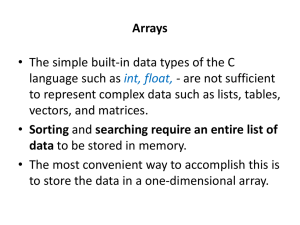 Chapter 7: One-Dimensional Arrays
