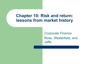 Chapter 9: Risk and return