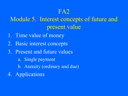 FA2 Module 5. Interest concepts of future and present value