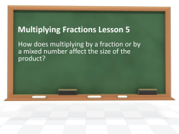 5th Grade Lesson 5 Multiplying Fractions