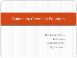PPT ON BALANCING CHEMICAL EQUATION