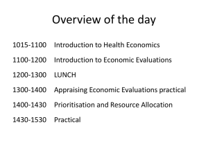 Introduction to Health Economics and Economic Evaluations