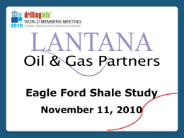 Eagle Ford Shale Study – Area Overview