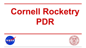 PDR Presentation - Cornell Rocketry Team