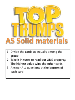 Materials Top Trumps - The Mathematics Shed