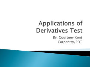 Applications of Derivatives Test
