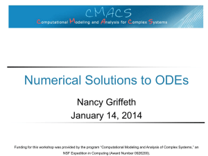 Numerical Solutions to ODEs