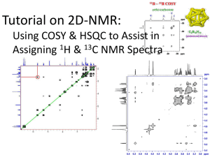 Tutorial on 2D-NMR Using COSY & HSQC to Assist in Assigning