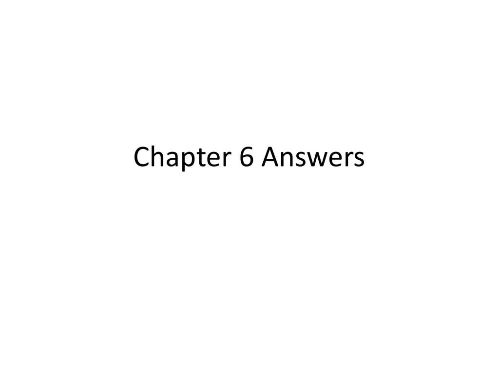 Chemistry Chapter 6 Answer Key