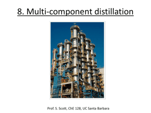 Multicomponent distillation - Department of Chemical Engineering