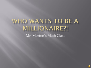 Who wants to be a Millionaire?! - BreakthroughMiami