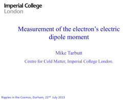 Measurement of the electron`s electric dipole moment