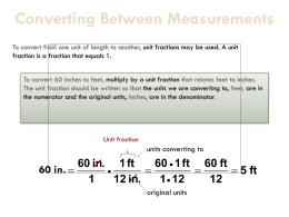 Metric System of Measurement