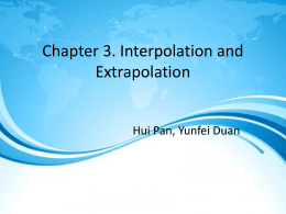 Plynomial Interpolation Ch 3