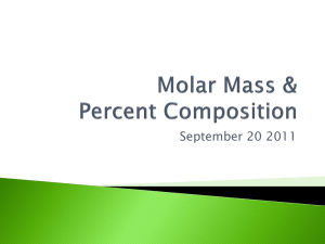 Molar Mass & Percent Composition