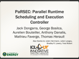 Parallel Runtime Scheduler and Execution Controller