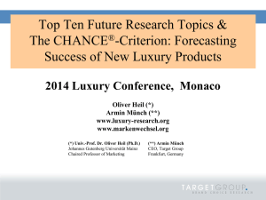 Placement Research - 2014 Monaco Symposium on Luxury