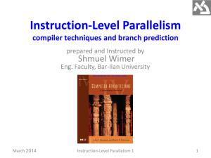 Instruction-Level Parallelism 1