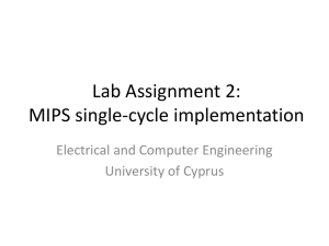 MIPS single-cycle implementation