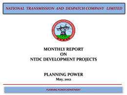 NTDC Projects Ready for Implementation