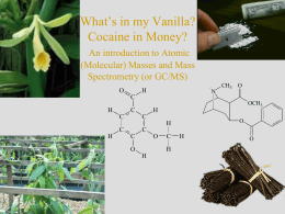 What*s in my Vanilla? * An introduction to Atomic (Molecular