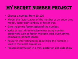 My Special Number Project