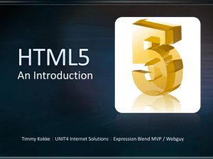 HTML5-Introduction