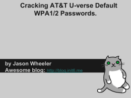 CrackingWPA