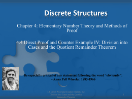 Division into Cases and the Quotient
