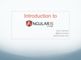 Building Applications with Angular.js