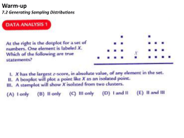 7.2 Generating Sampling Distributions