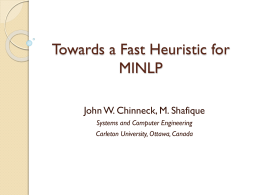 A heuristic method for MINLP
