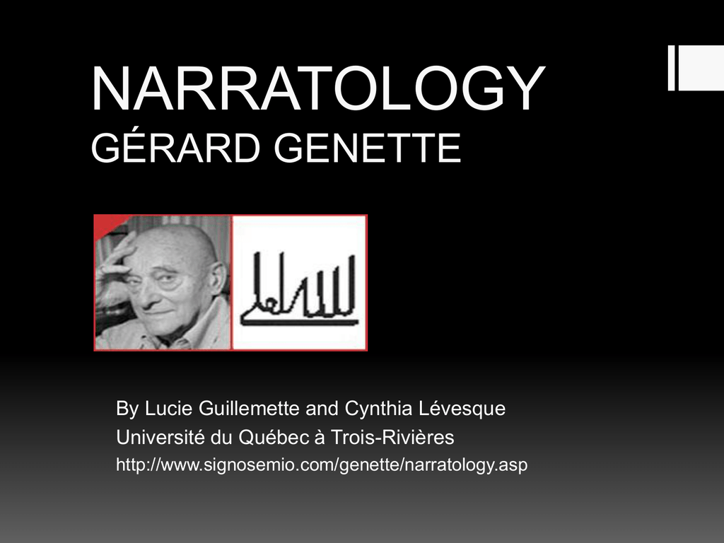 Narratology Gerard Genette
