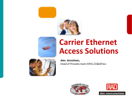 Ethernet Access - PM Oct 10