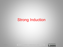 Strong induction