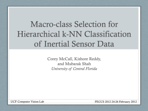 PECCS 2012 presentation - CRCV - University of Central Florida