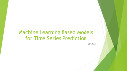 Time Series Prediction with Machine Learning Models