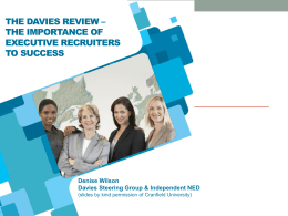 Davies Report Women on Boards