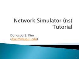 Tutorial: NS2
