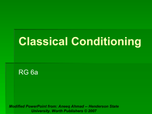 Classical Conditioning PPT