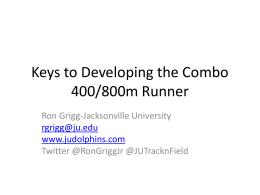 400/800 Presentation – Ron Grigg