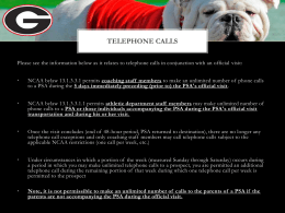 Telephone Call Rules: Pre- and Post-Official Visit