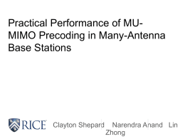 Practical Performance of MU-MIMO Precoding in Many