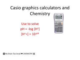 Casio graphics calculators and Chemistry