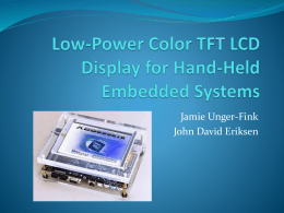 Low-Power Color TFT LCD Display for Hand
